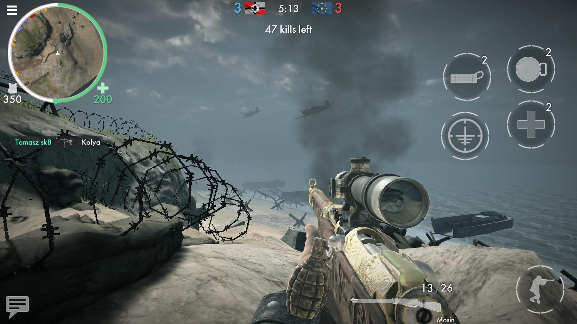 世界战争 - 英雄 游戏截图1