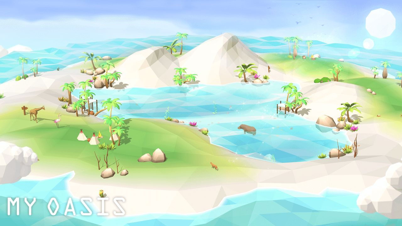 我的绿洲[第二季]: 平静与放松空闲唱首歌游戏 游戏截图1