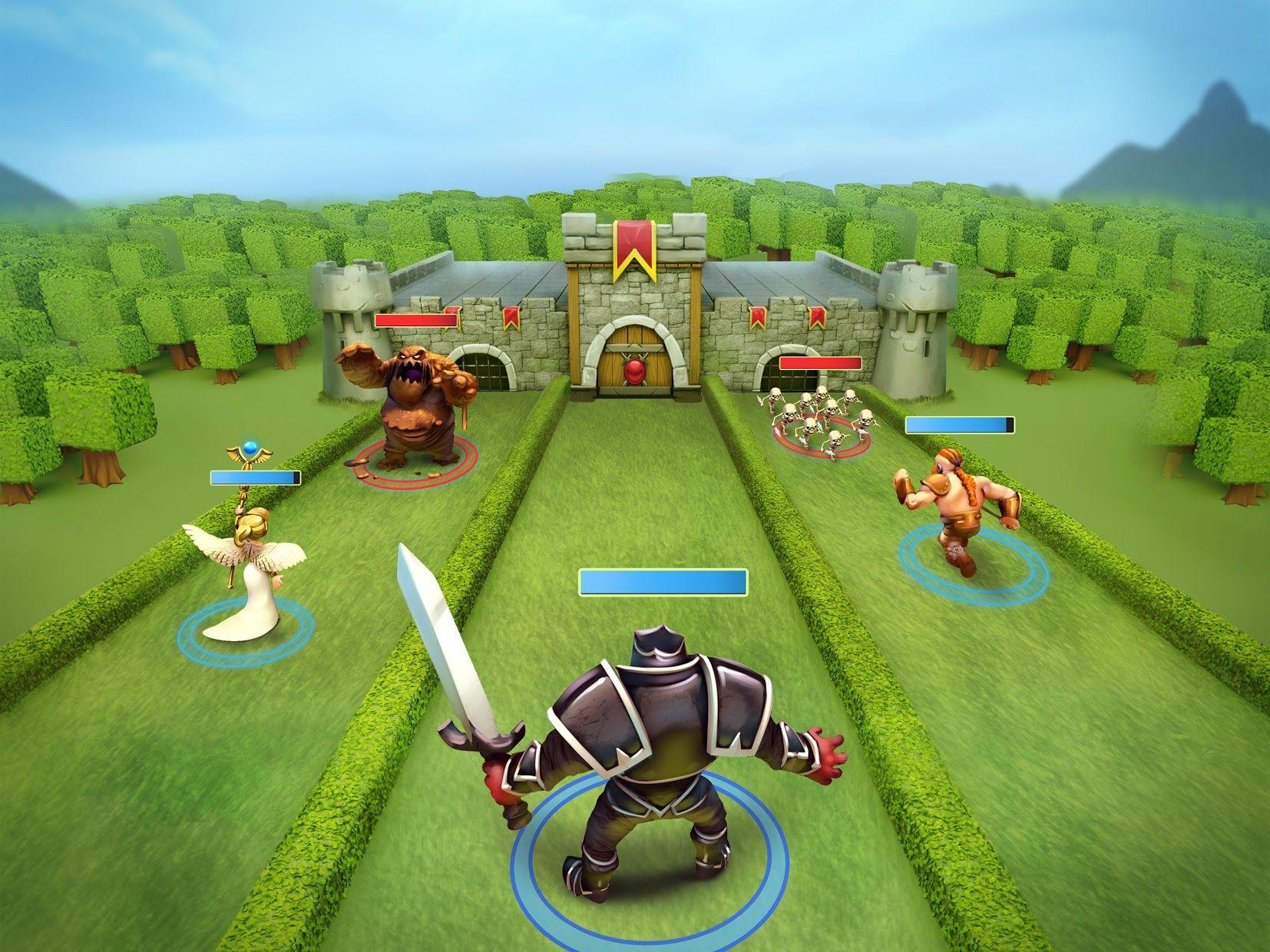 城堡粉碎战 - 最佳卡牌游戏 (Castle Crush) - 免费 游戏截图1