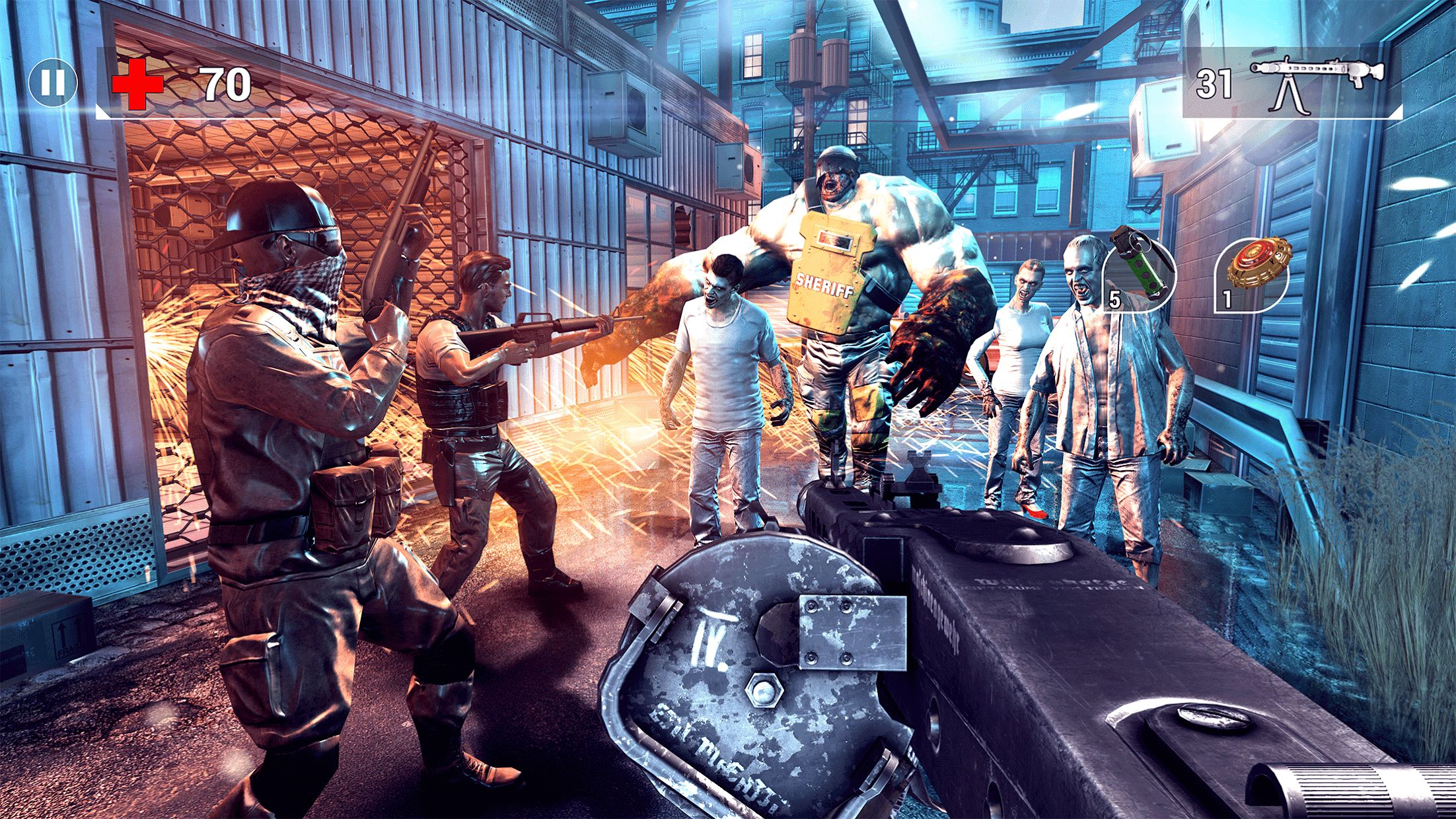 全境危机:都市生存射击游戏 游戏截图2