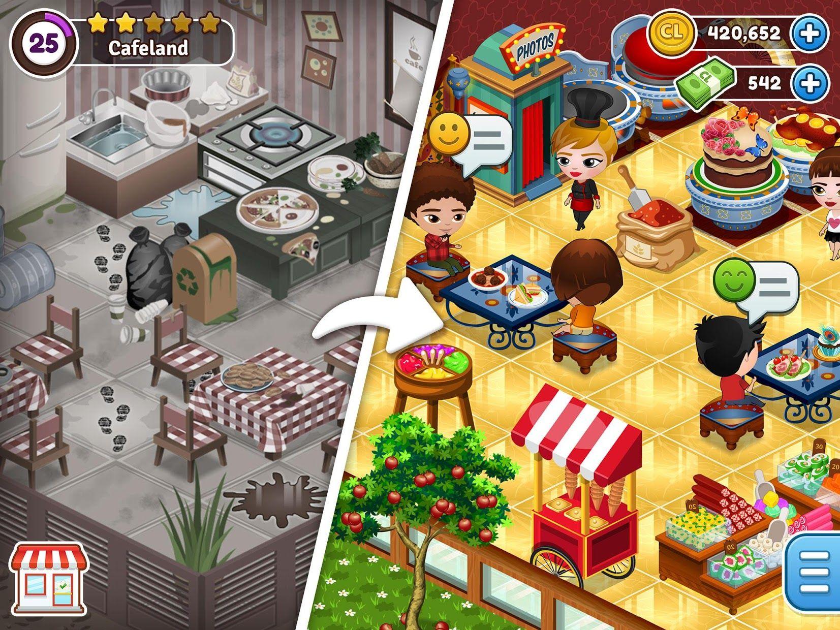 Cafeland - 餐厅游戏 游戏截图1