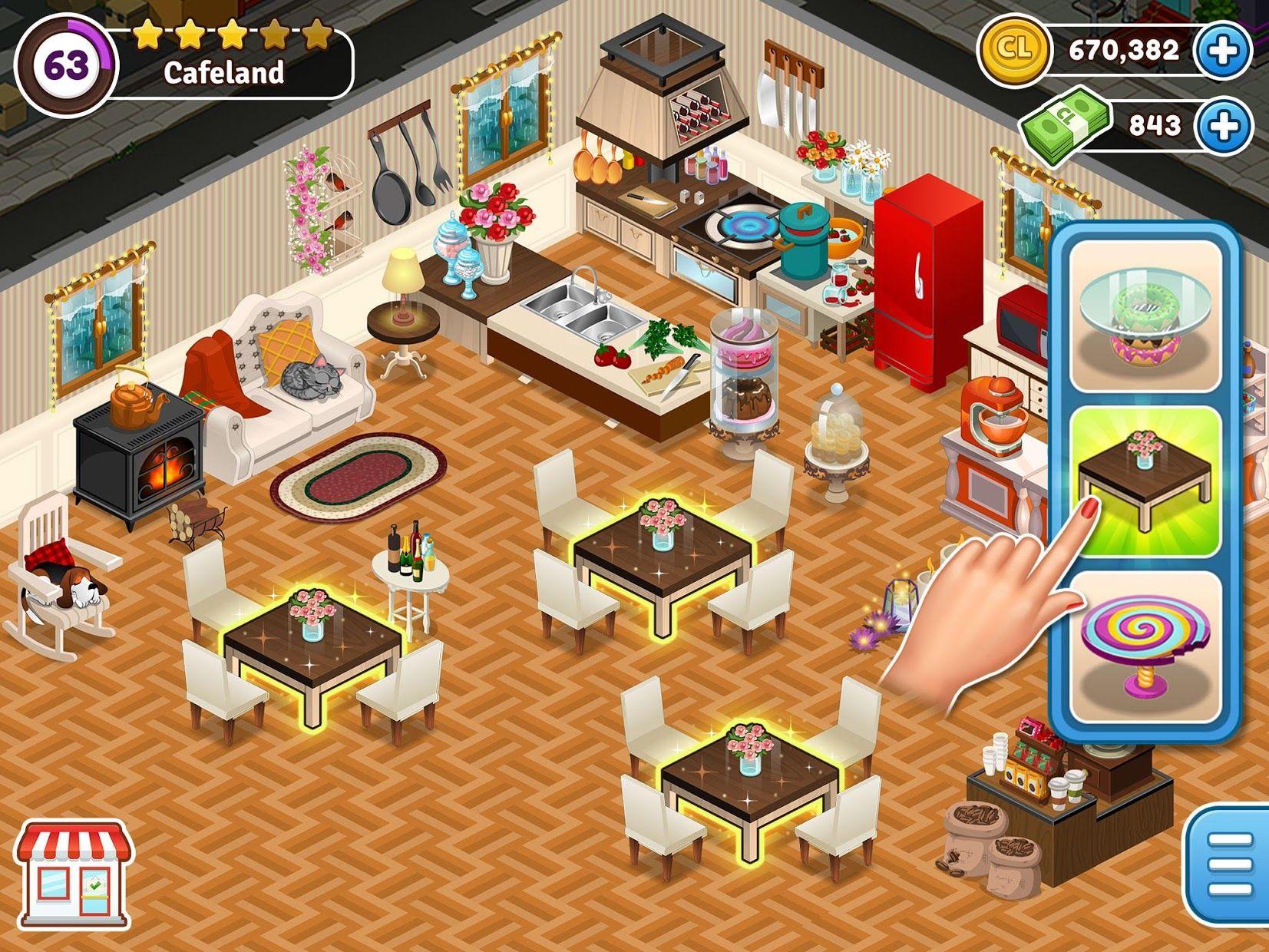 Cafeland - 餐厅游戏 游戏截图2