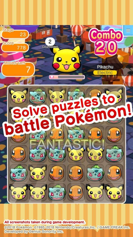 Pokémon Shuffle Mobile 游戏截图2