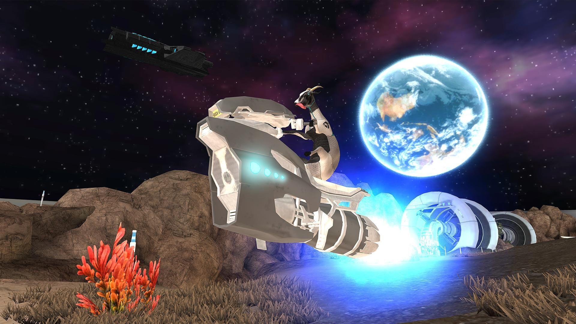 模拟山羊:太空废物 游戏截图1