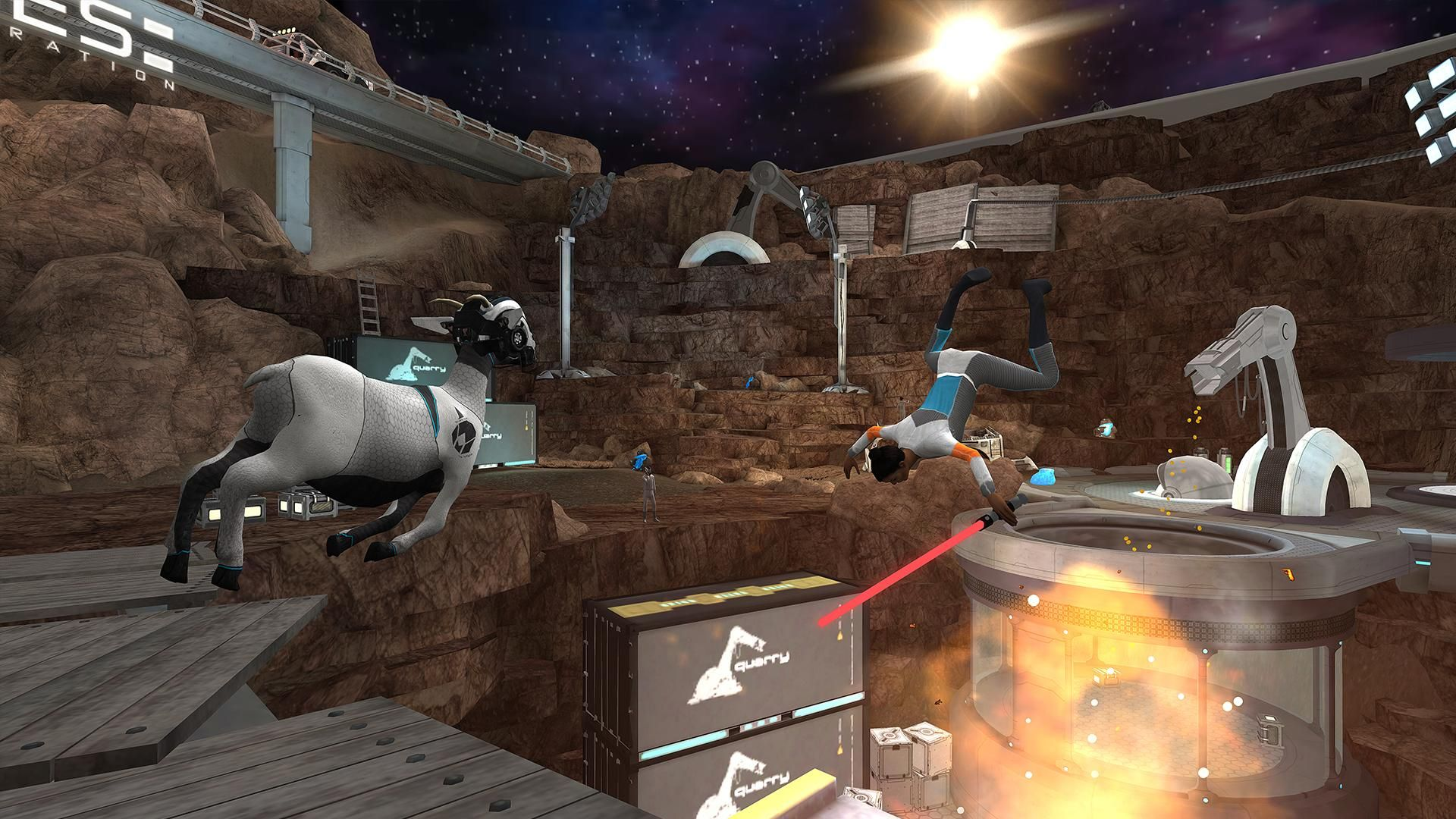 模拟山羊:太空废物 游戏截图5