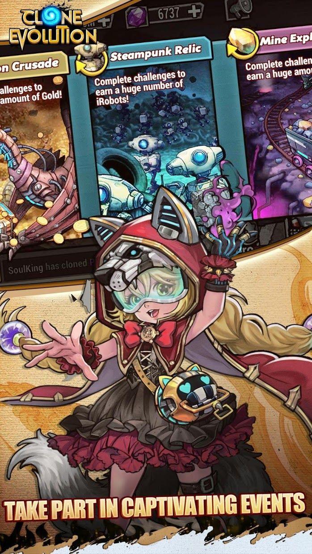 克隆战争-赛博朋克放置类RPG游戏 游戏截图2