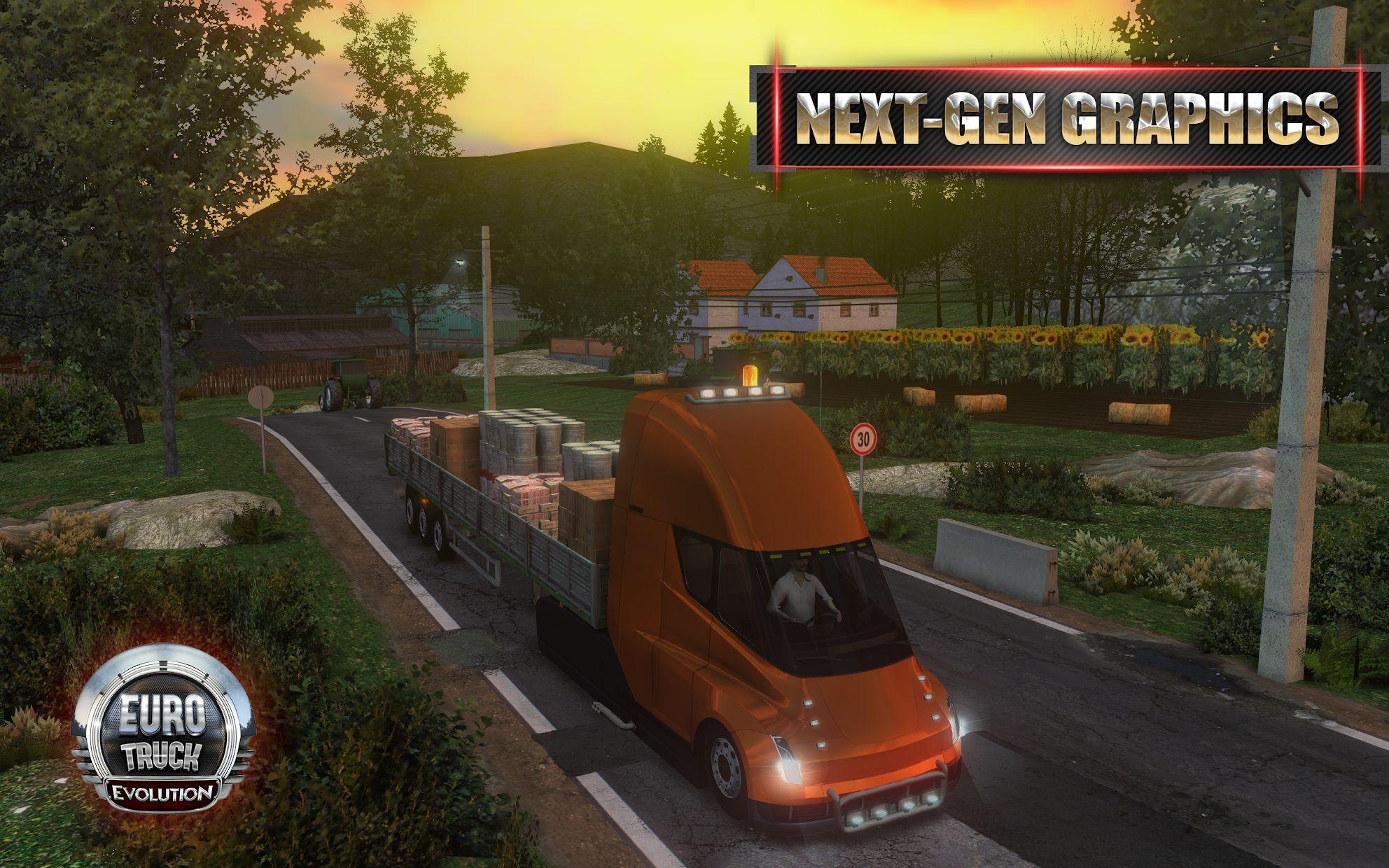 Euro Truck Evolution (Simulator) 游戏截图1