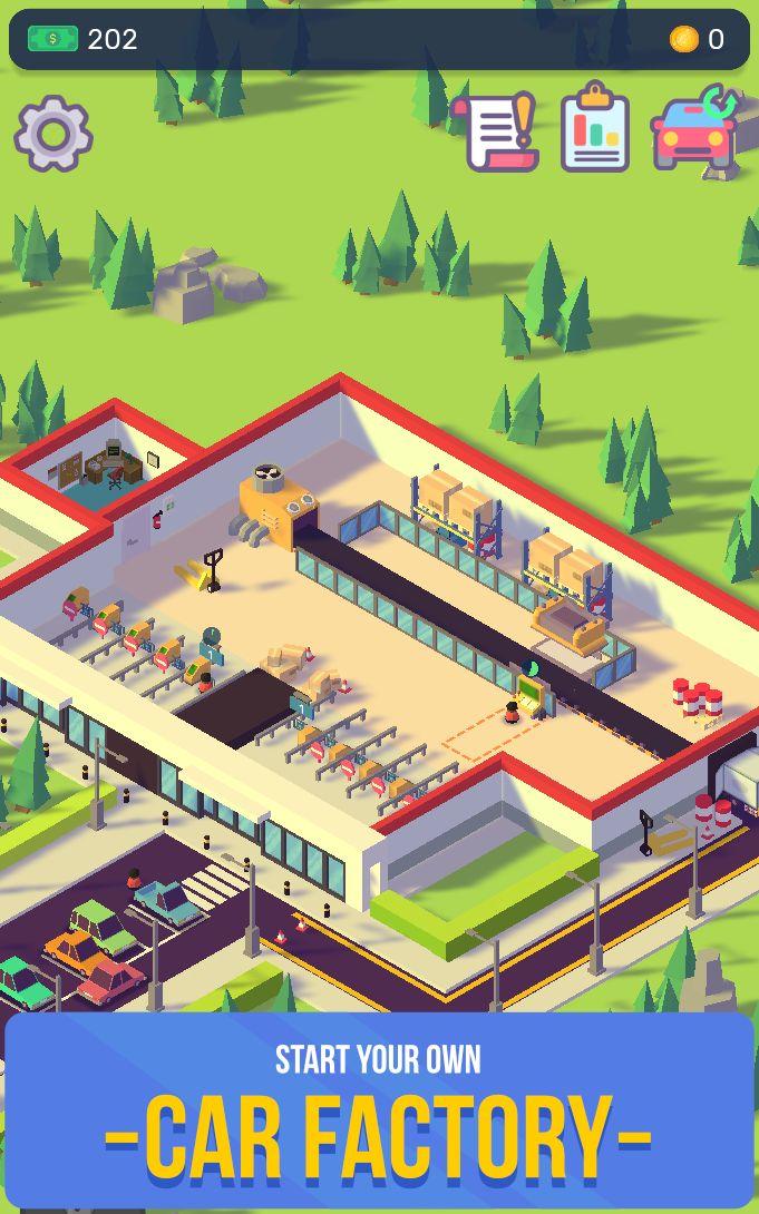 汽车工业大亨-放置汽车工厂模拟器 游戏截图1