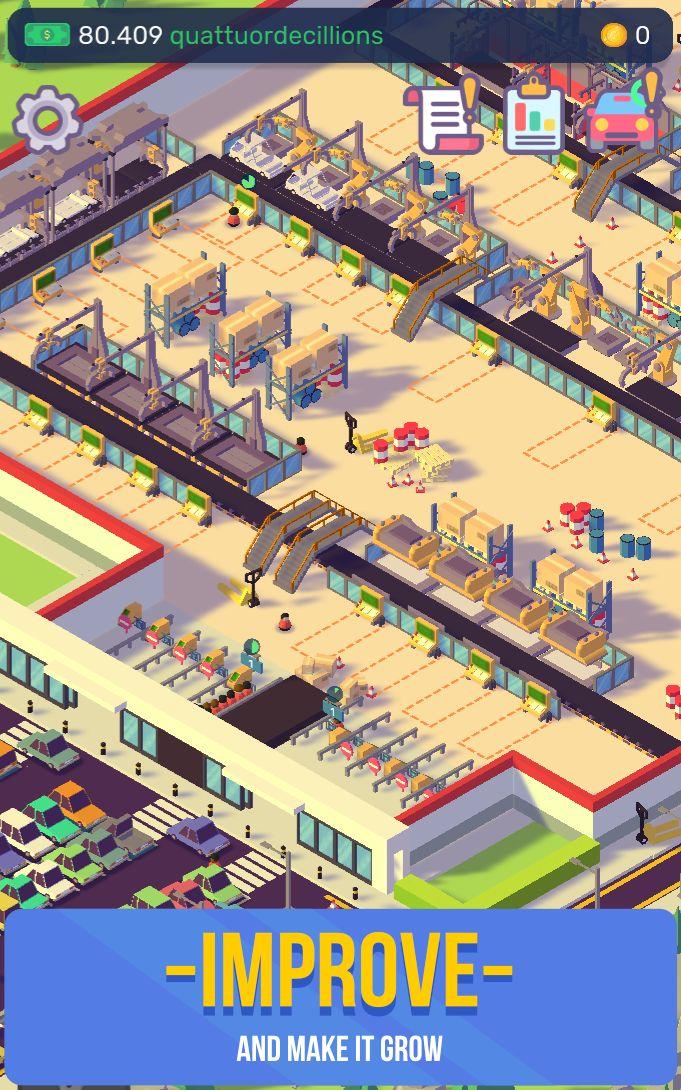 汽车工业大亨-放置汽车工厂模拟器 游戏截图2