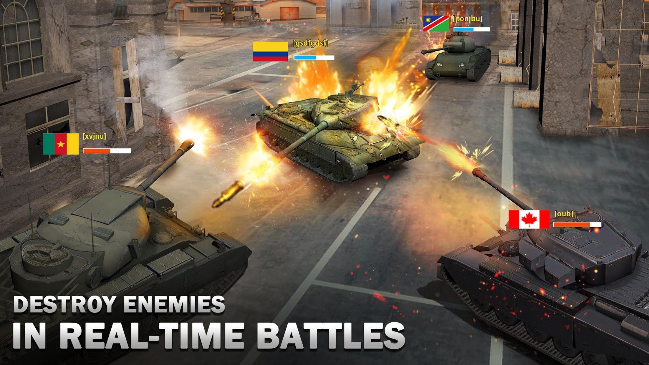 狂怒坦克:世界之巅,生存大战 游戏截图1