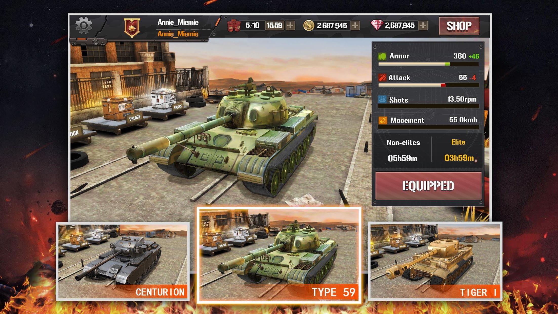 狂怒坦克:世界之巅,生存大战 游戏截图4