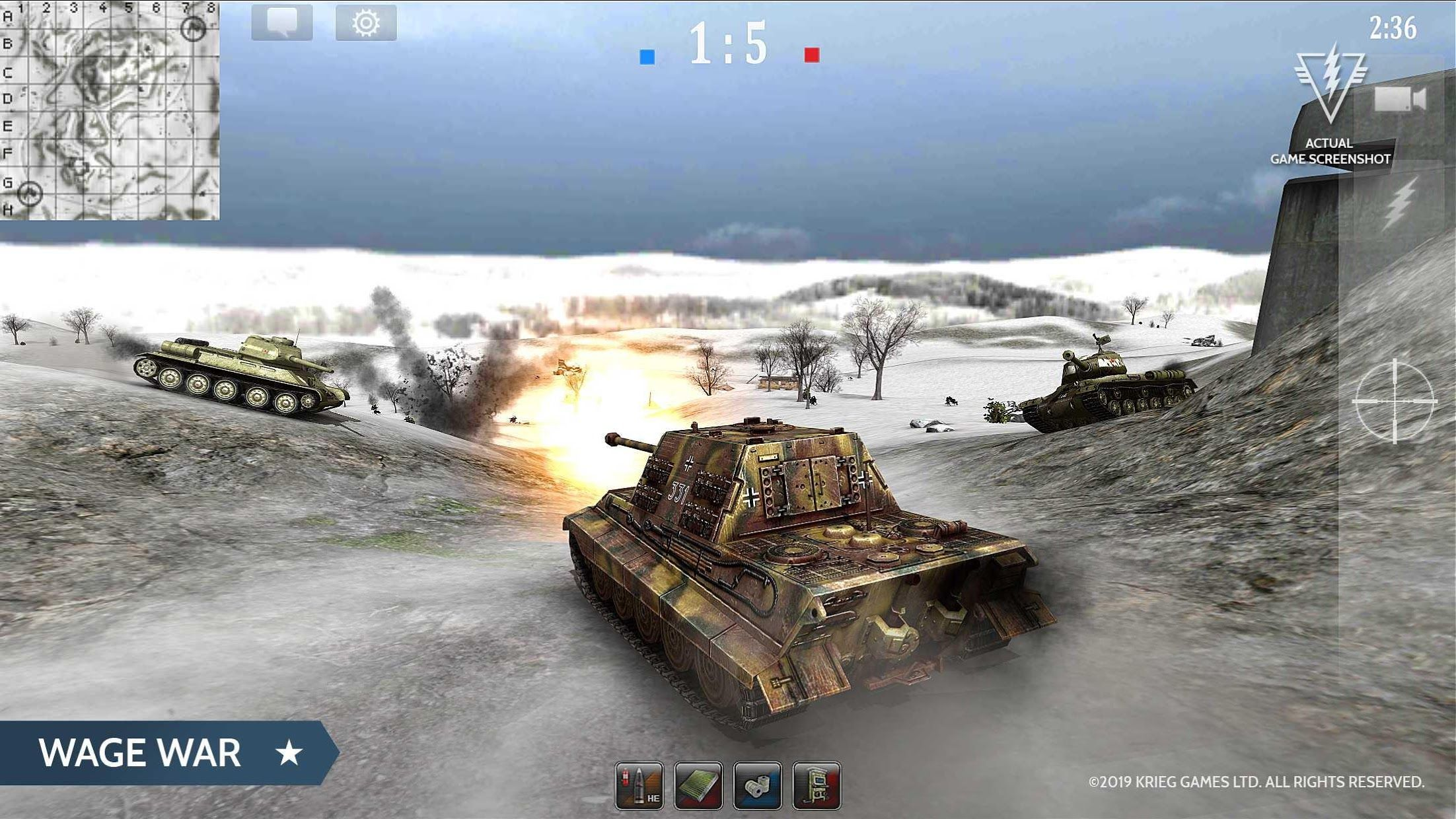 Armored Aces - Tanks in the World War 游戏截图4