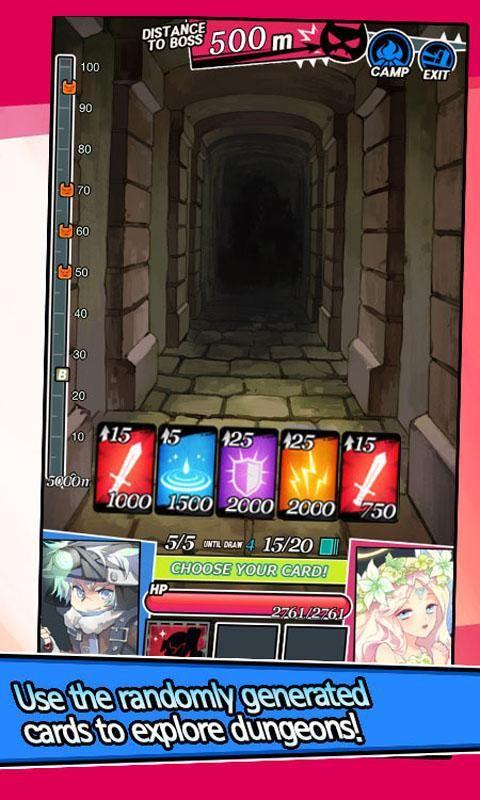 地下城和女孩 : Card RPG 游戏截图2