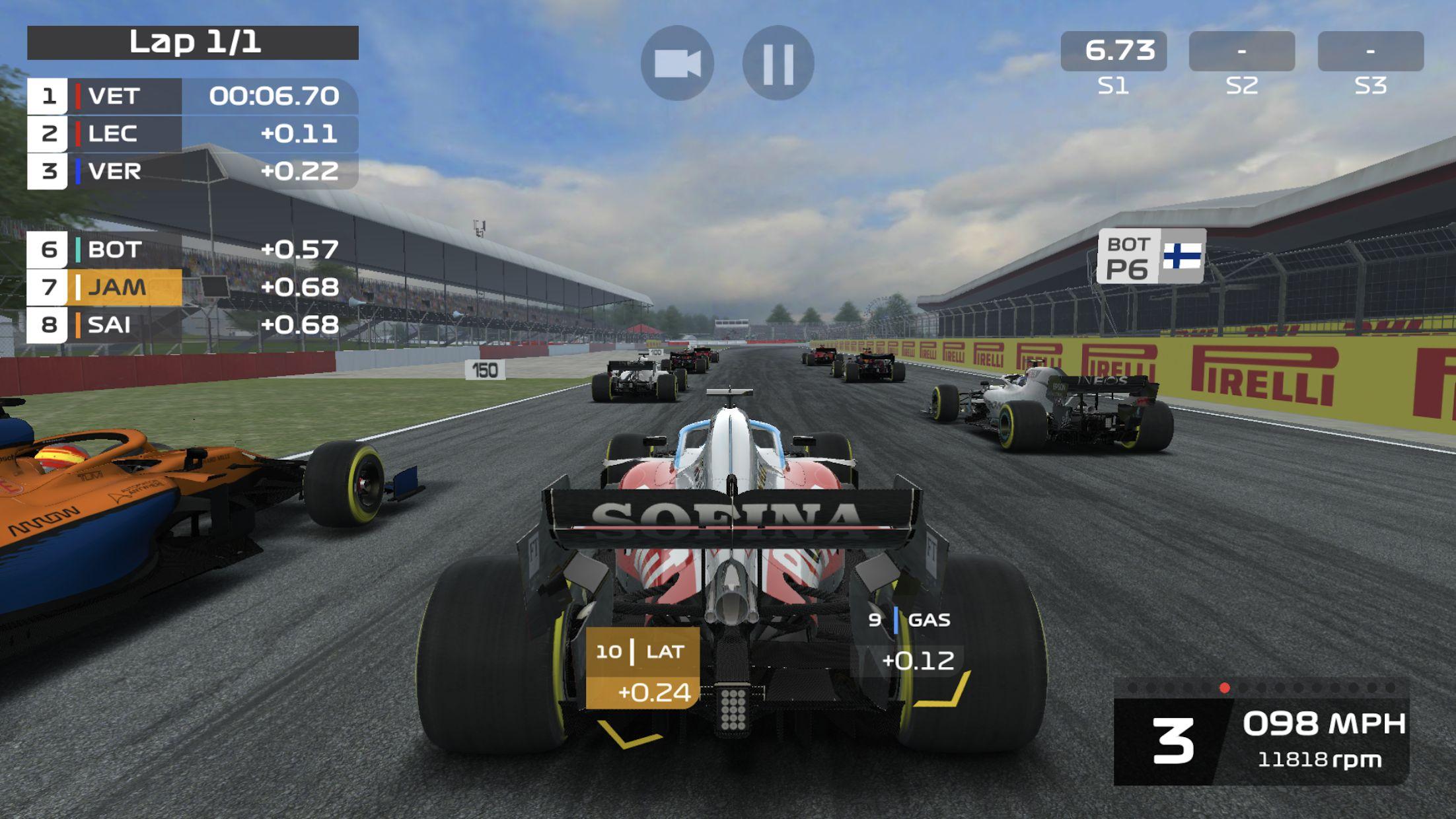 F1 移动赛车 游戏截图4
