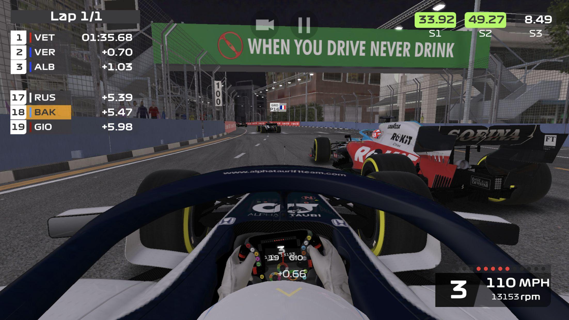 F1 移动赛车 游戏截图5
