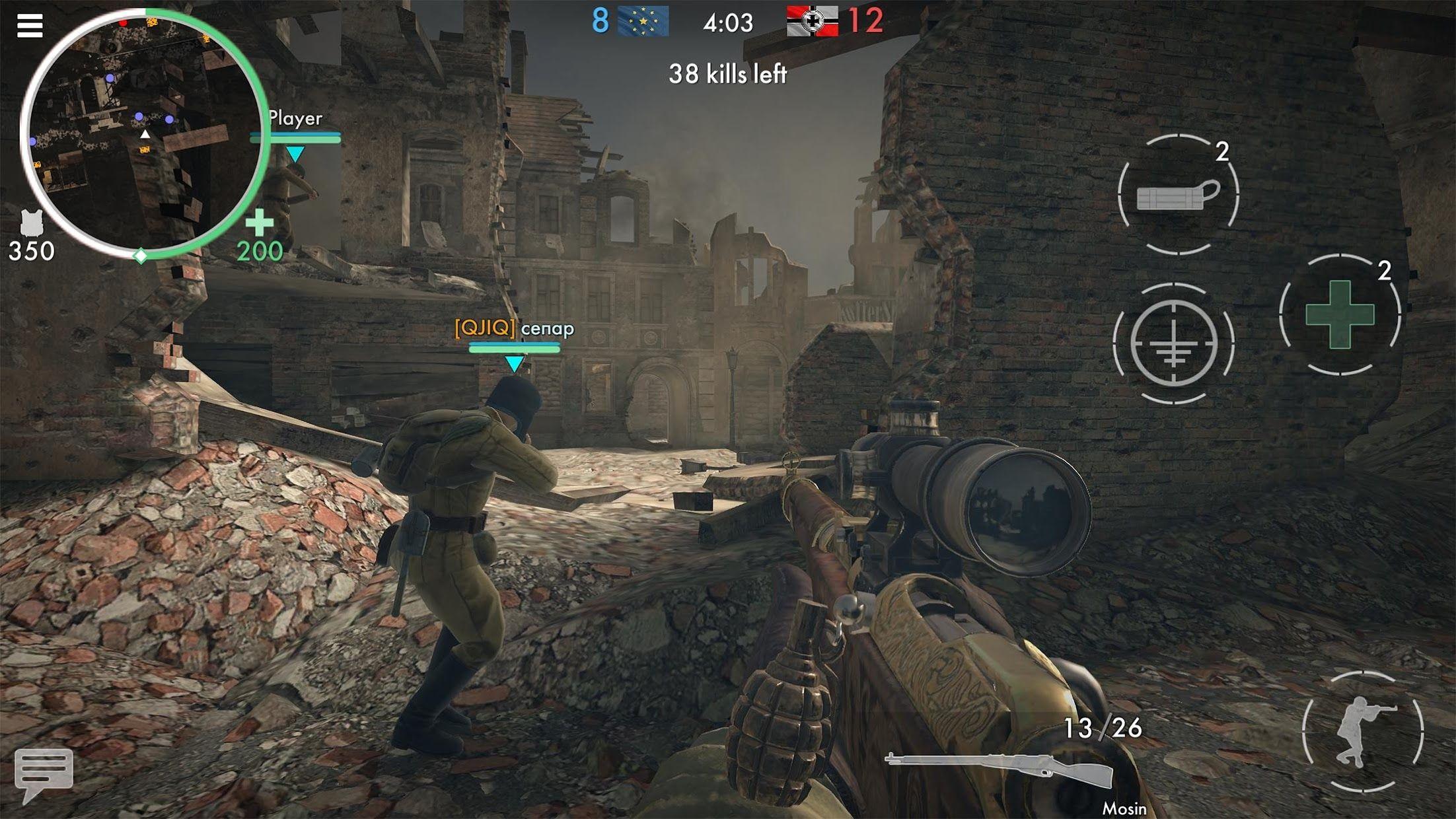世界战争 - 英雄 游戏截图3
