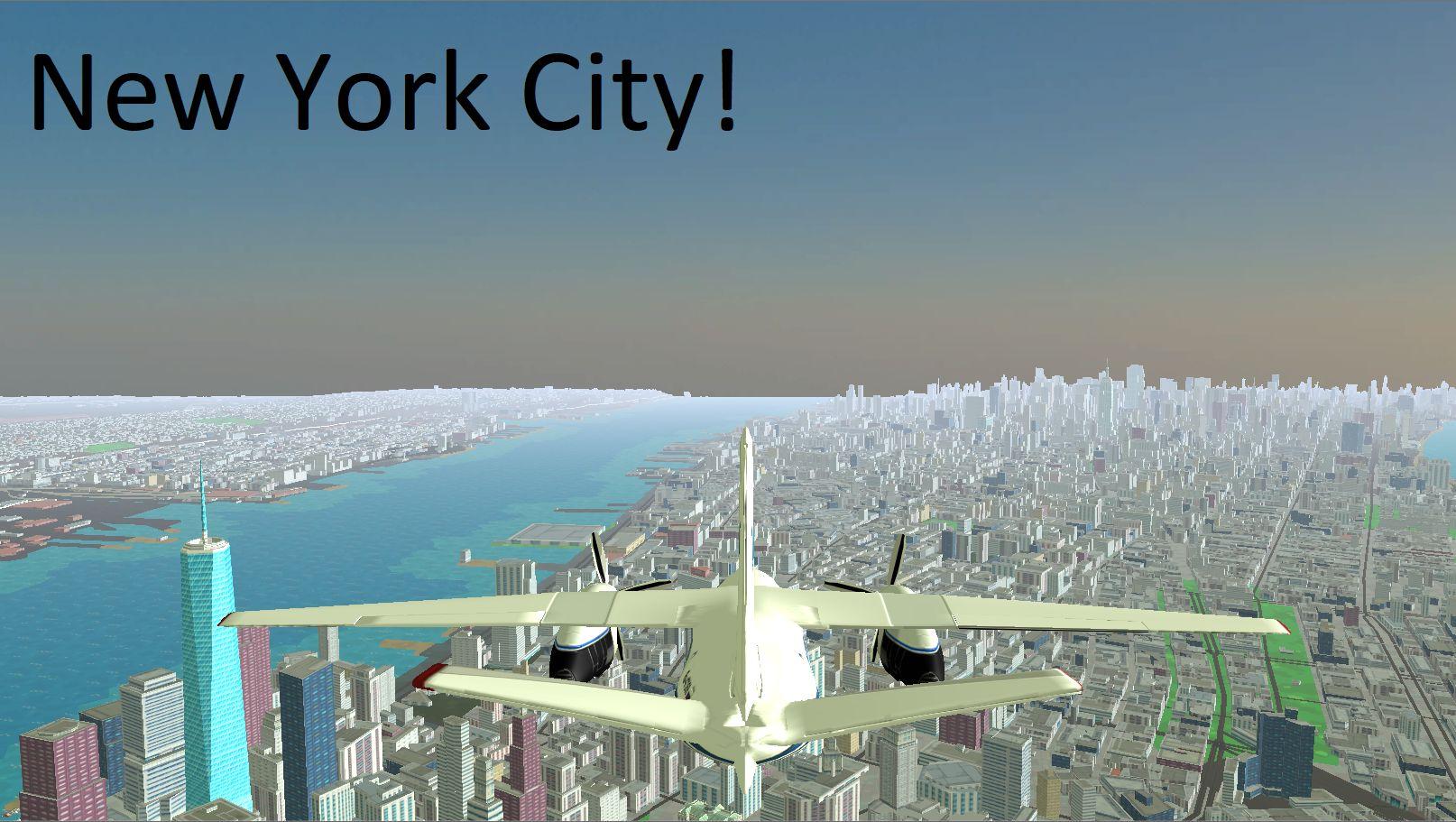 3D地球飞行模拟器 游戏截图2