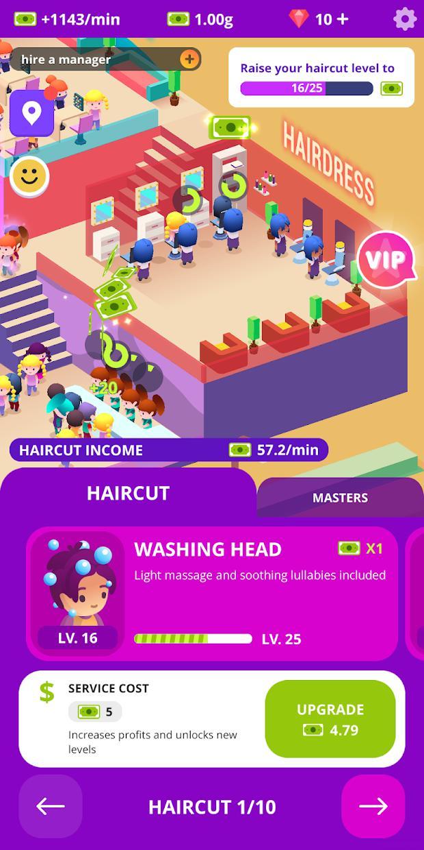 空闲美容院:头发和指甲客厅模拟器 游戏截图1