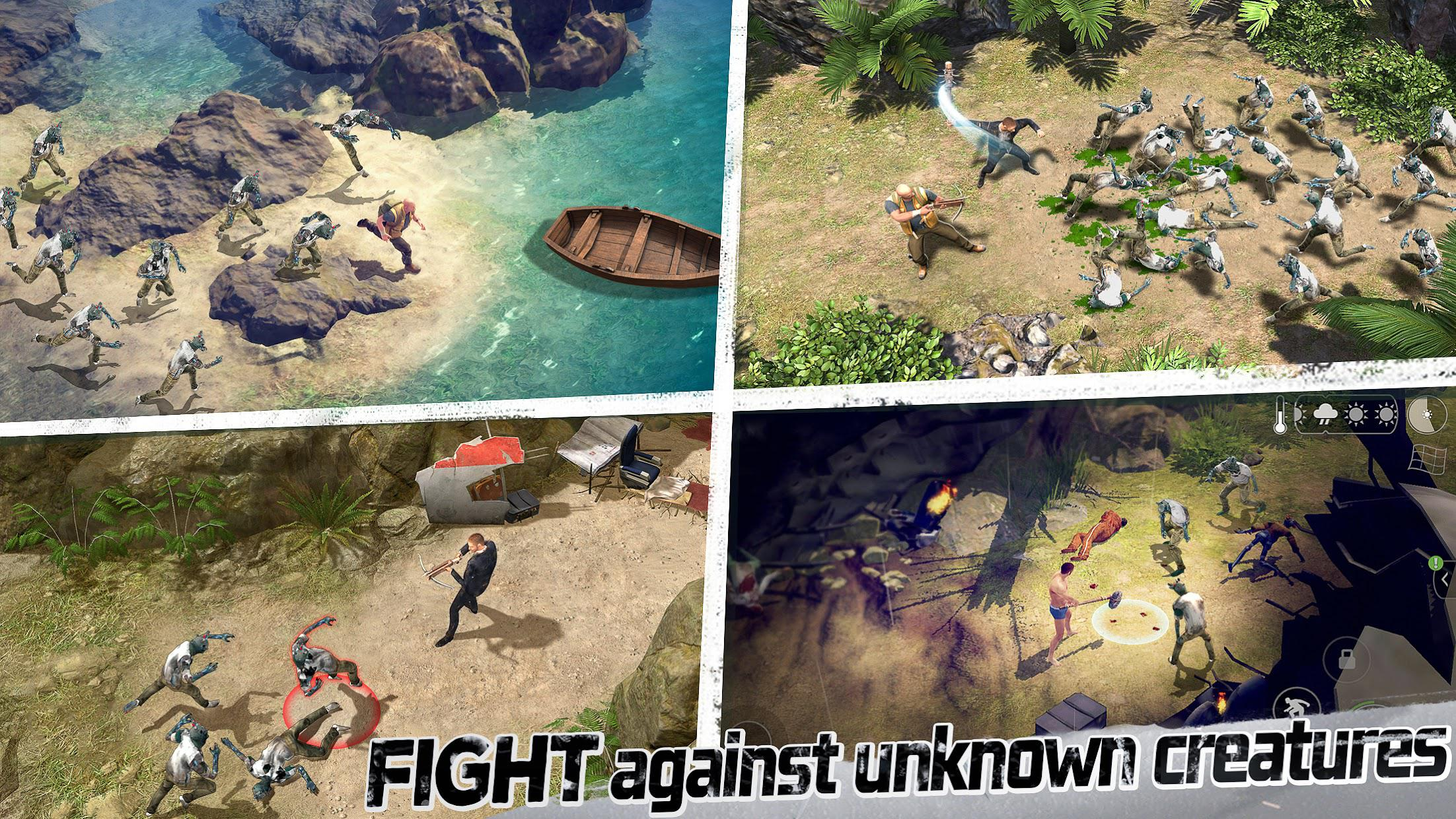 LOST in Blue: Survive the Zombie Islands 游戏截图2