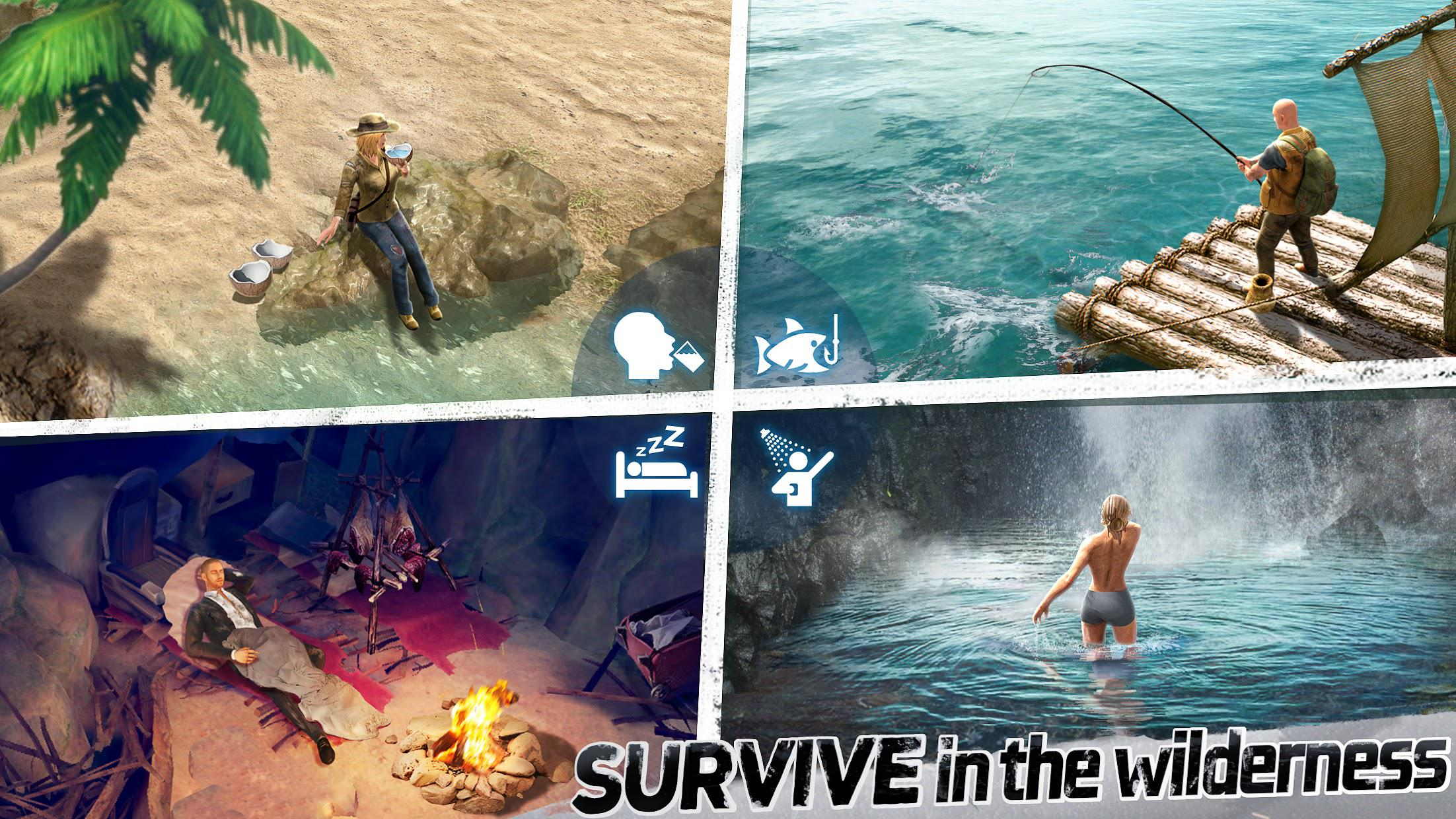LOST in Blue: Survive the Zombie Islands 游戏截图3