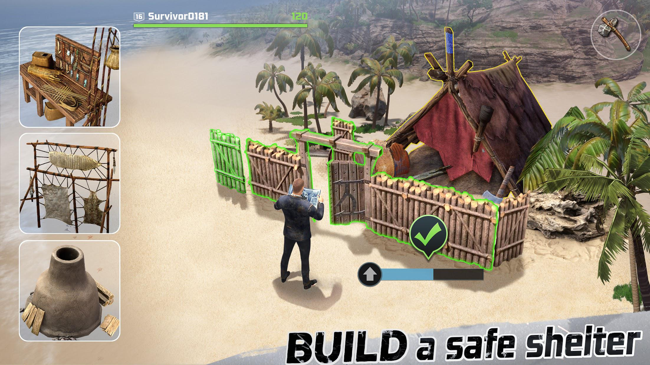 LOST in Blue: Survive the Zombie Islands 游戏截图4