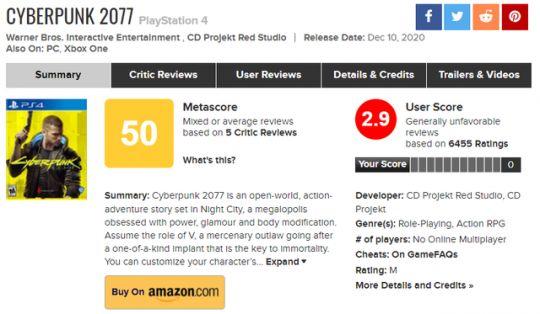 评分翻车?不够完美的《赛博朋克2077》,玩家是否对它期望过高? 图片4