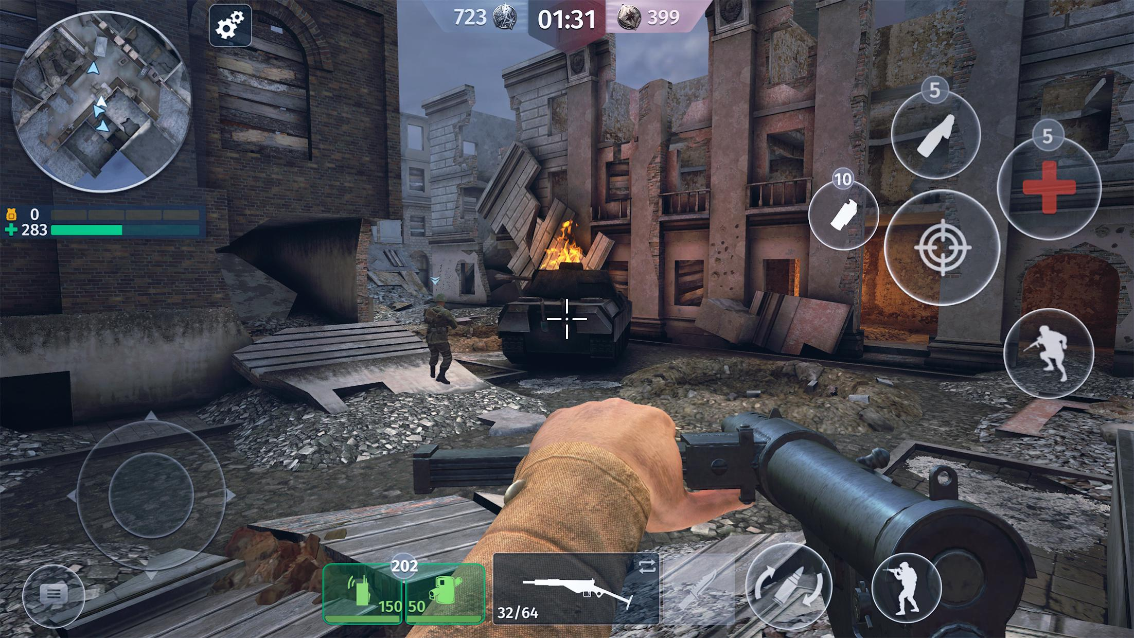 World War 2 - Battle Combat (Online FPS 游戏) 游戏截图2