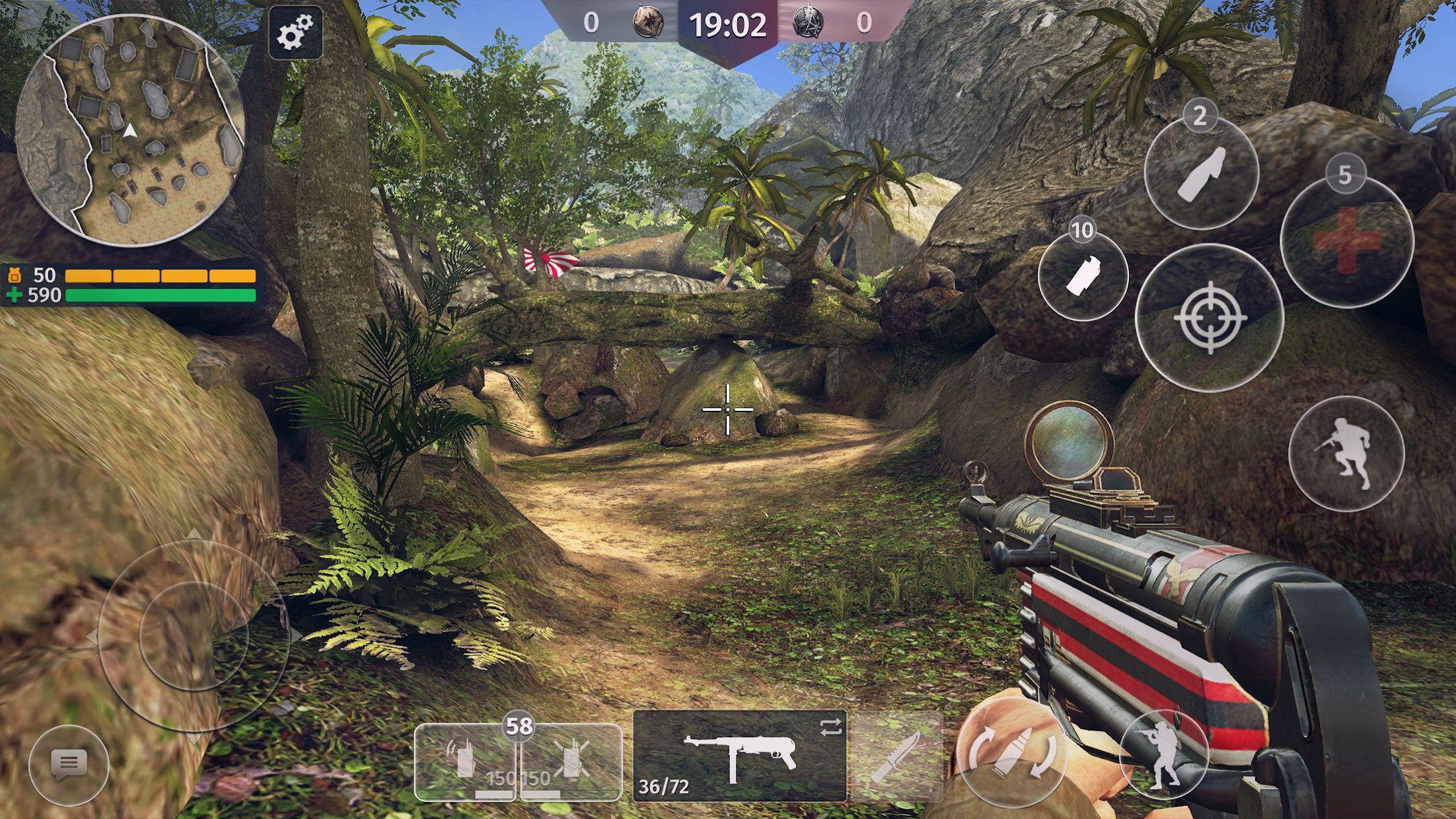 World War 2 - Battle Combat (Online FPS 游戏) 游戏截图1