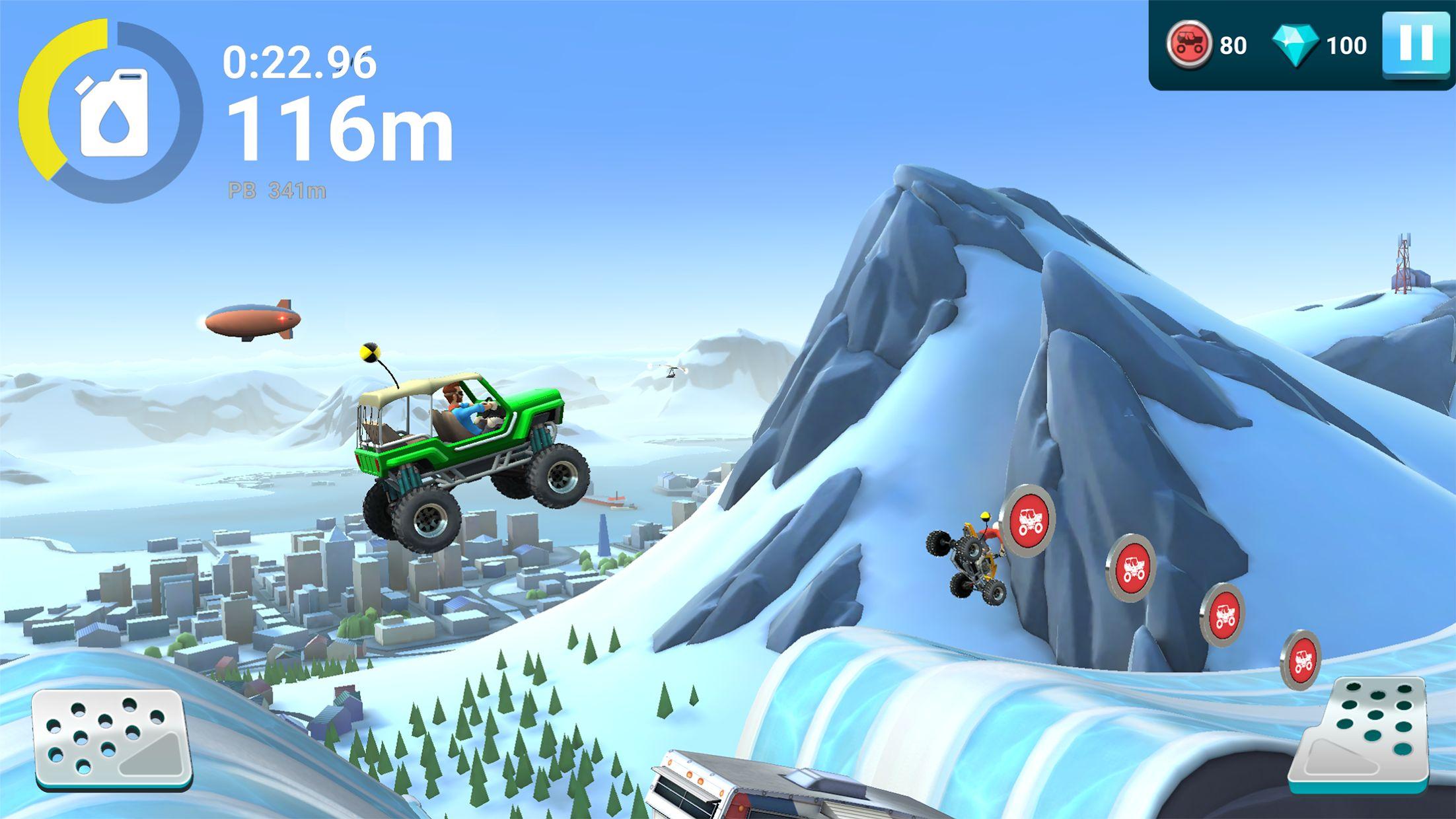 MMX 坡道狂飙 2 – 越野卡车、汽车和机车赛车 游戏截图1