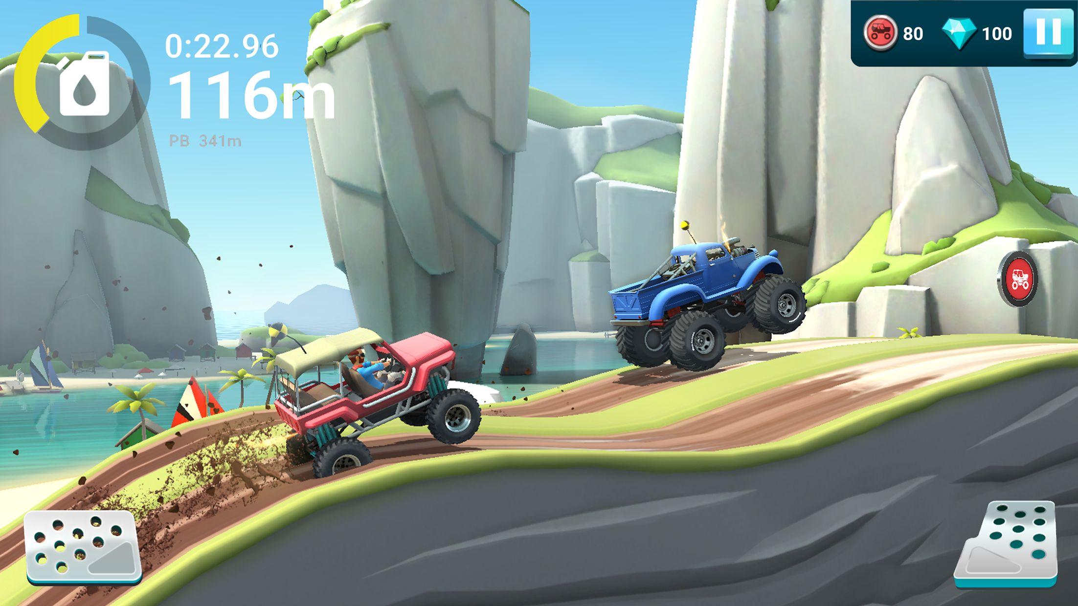 MMX 坡道狂飙 2 – 越野卡车、汽车和机车赛车 游戏截图3