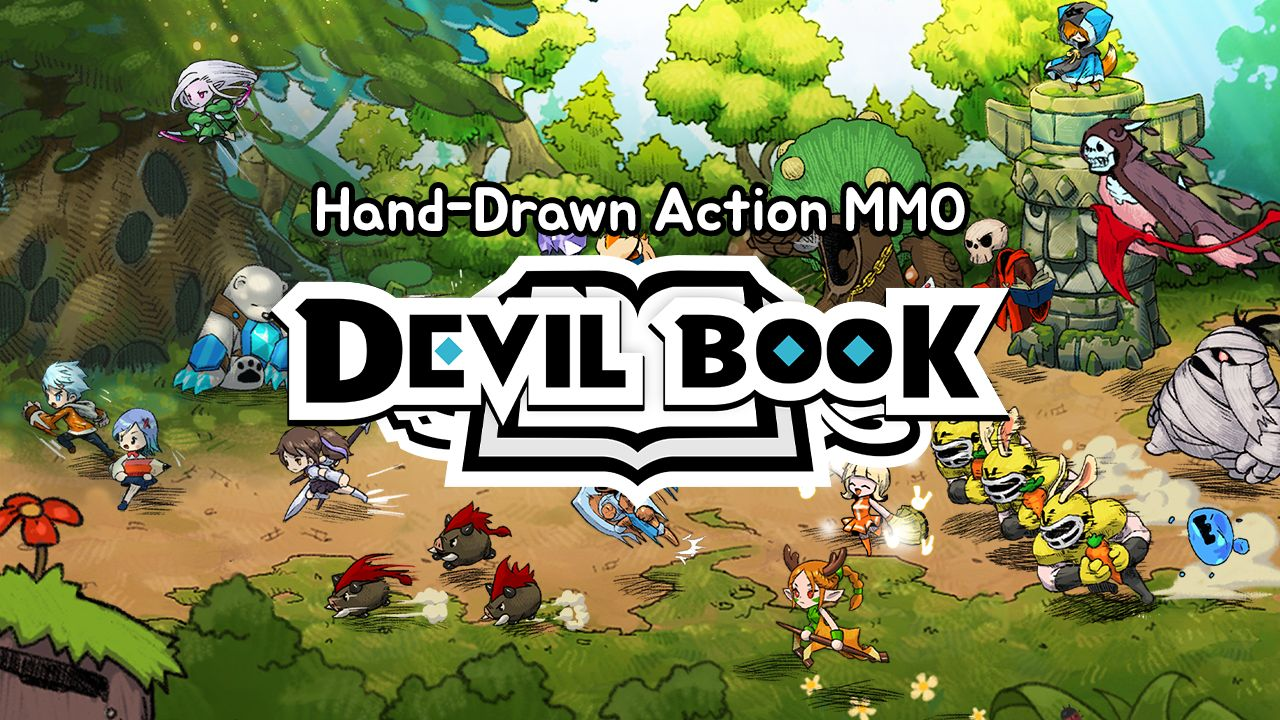 Devil Book: Hand-Drawn Action MMO 游戏截图1