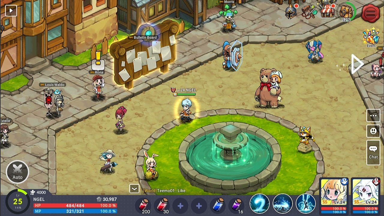 Devil Book: Hand-Drawn Action MMO 游戏截图2