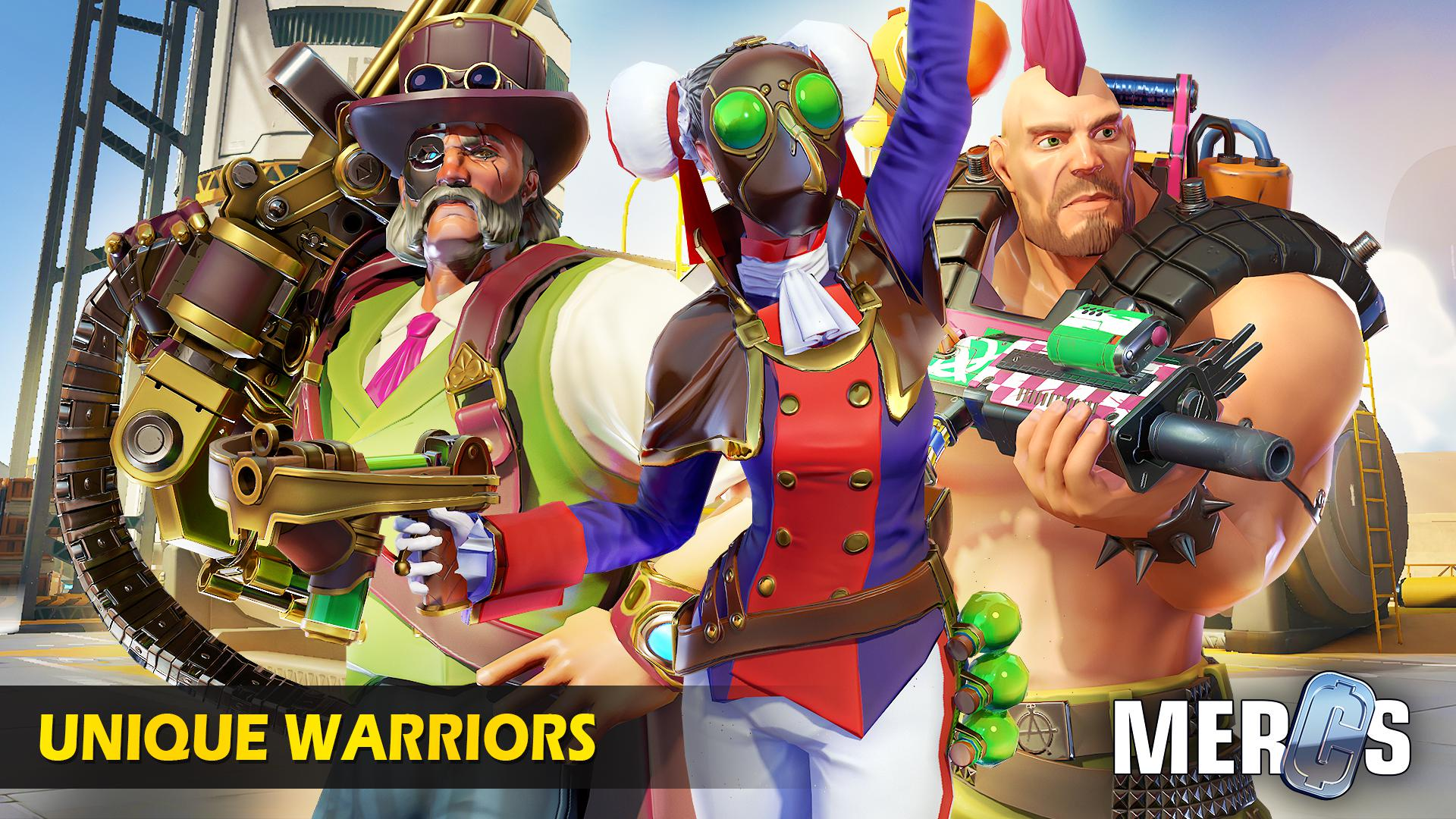 MERCS - Cyber strike arena. Multiplayer shooter! 游戏截图3