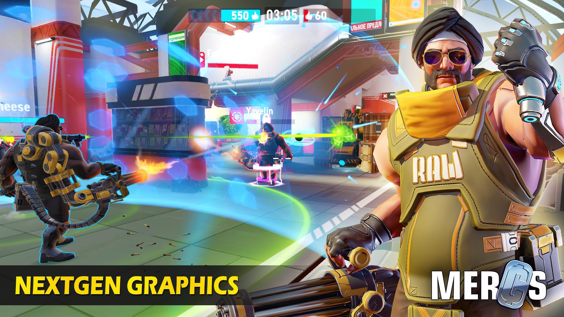MERCS - Cyber strike arena. Multiplayer shooter! 游戏截图4