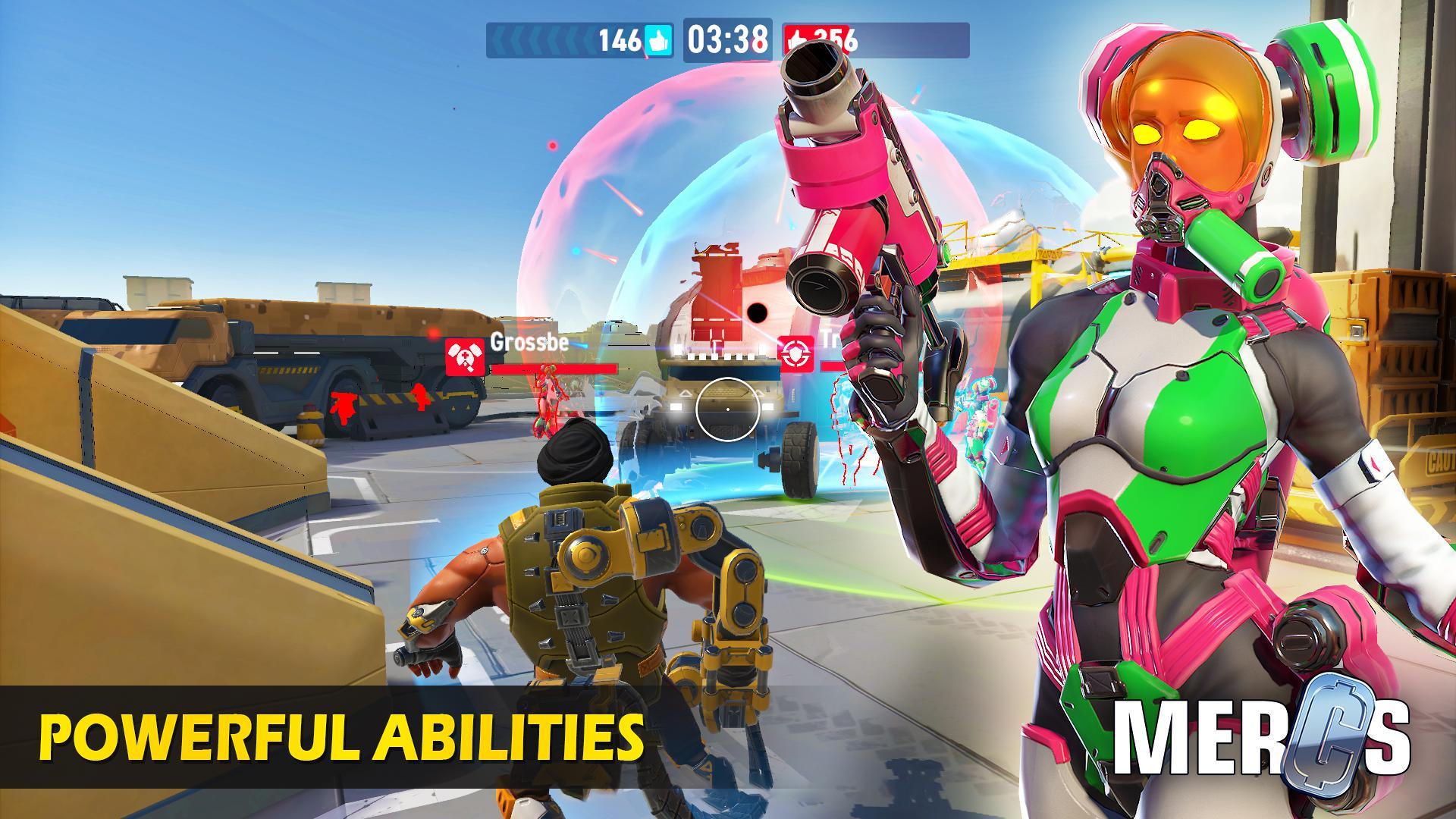 MERCS - Cyber strike arena. Multiplayer shooter! 游戏截图5