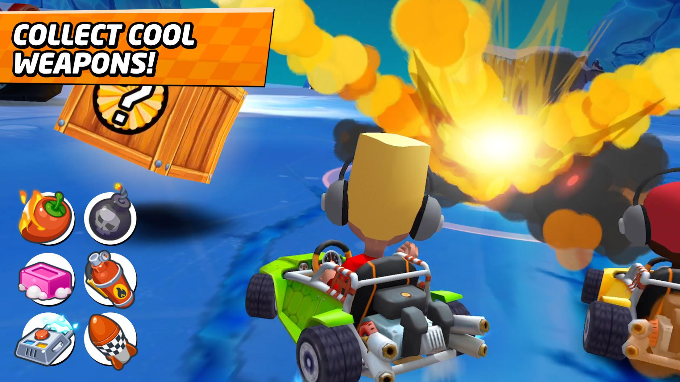 Boom Karts - Multiplayer Kart Racing 游戏截图2